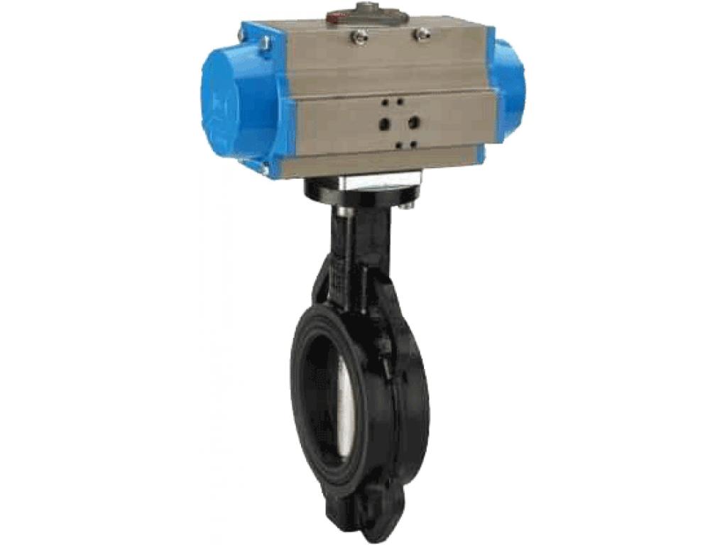 Заслонка поворотная с уплотнением EPDM, под пневмопривод, под электропривод